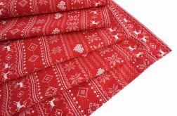 Bieżnik świąteczny czerwony norweski wzór