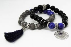 BLACK & BLUE - set - kamienie naturalne