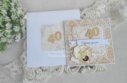 Kartka z okazji 40 urodzin w kopercie 18