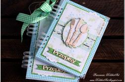 Niebiesko zielony Notes kuchenny przepiśnik