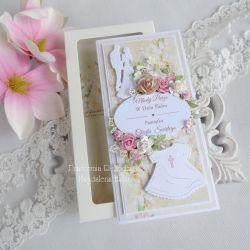 Kartka w pudełku na ślub i chrzciny 11
