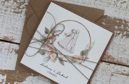 Kartka ślubna w stylu boho