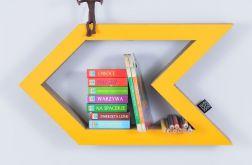 Półka na książki STRZAŁKA | żółty