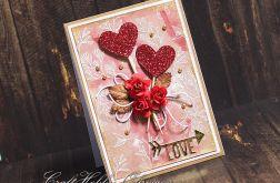 Love - serca na patyku