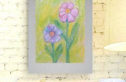 Rysunek kwiat na szarym tle nr 3