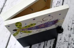 pudełko na klucze z tablicą anioł