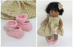 Różowe buty dla lalki MINILAND