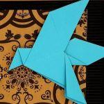 Obrazek origami wiszący drewniana ramka Ptaki - Zbliżenie2