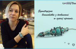 Elegancka bransoletka z turkusami