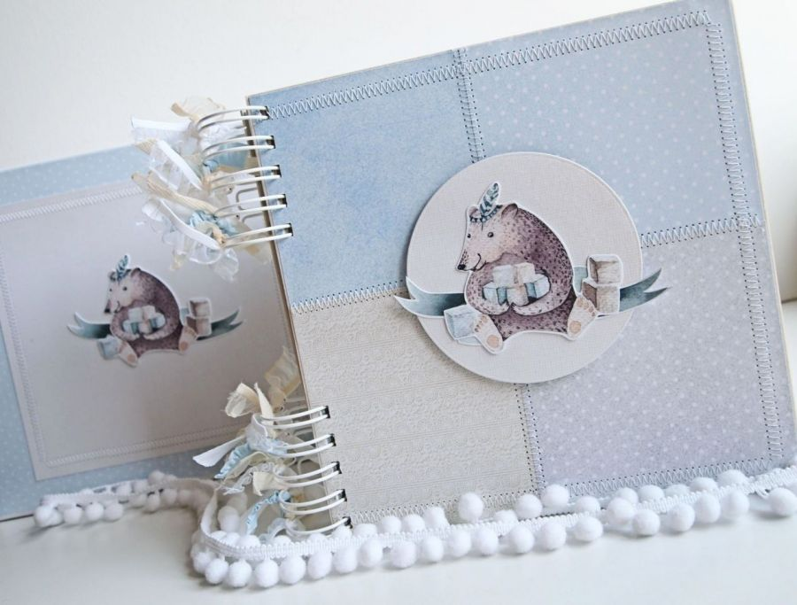 Album z misiem+pudełko