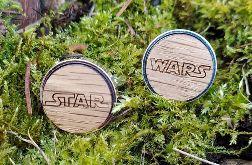 Drewniane spinki do mankietów STAR WARS