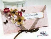 kopertówka z okazji ślubu : maliny i czekolada