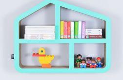 Półka na książki zabawki DOMEK | miętowy