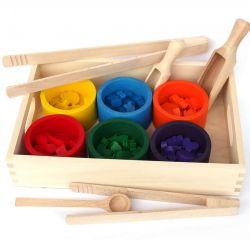Sorter kolorów drewniany zestaw
