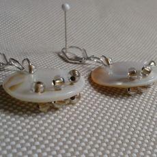 Kolczyki z masy  perłowej