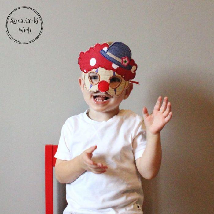 Maska dla dzieci i dorosłych - CLOWN/KLAUN