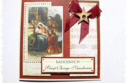 Kartka świąteczna ze stajenką