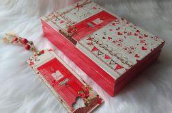 komplet - zakładka i pudełko na czekoladę