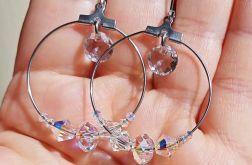 Kolczyki koła z kryształami Swarovskiego