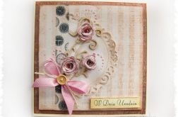 Kartka na Urodziny z różami