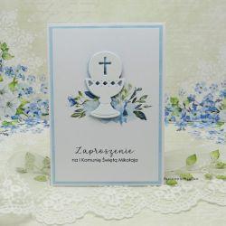Zaproszenie na Komunię z grafiką ZKG 21