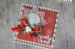 Kartka świąteczna ze świeczką nr 1