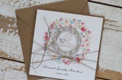 Kartka na chrzest z kopertą - życzenia i personalizacja d4