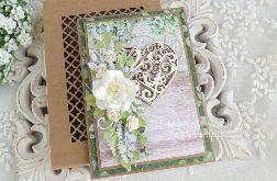 Ślubna kartka w pudełku 392