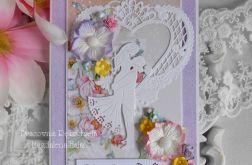 Ślubna kartka A5 w kopercie 12
