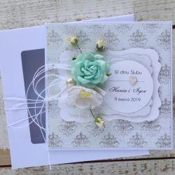 Kartka ślubna z personalizacją + pudełko b2