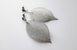 Kolczyki z serii StaLove - ażurowy liść