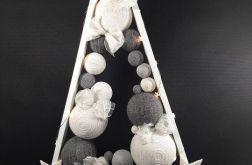 Skandynawska choinka drewniana w popieli LED