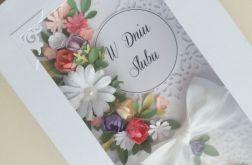 Kartka w pudełu z kolorowym BUKIETEM