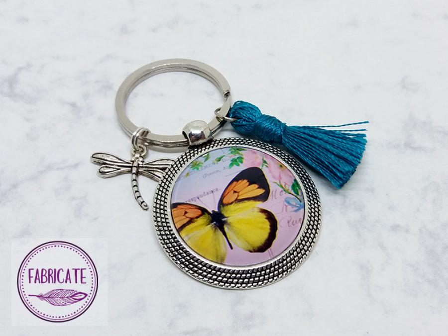 Brelok do kluczy z motylem - Fabricate