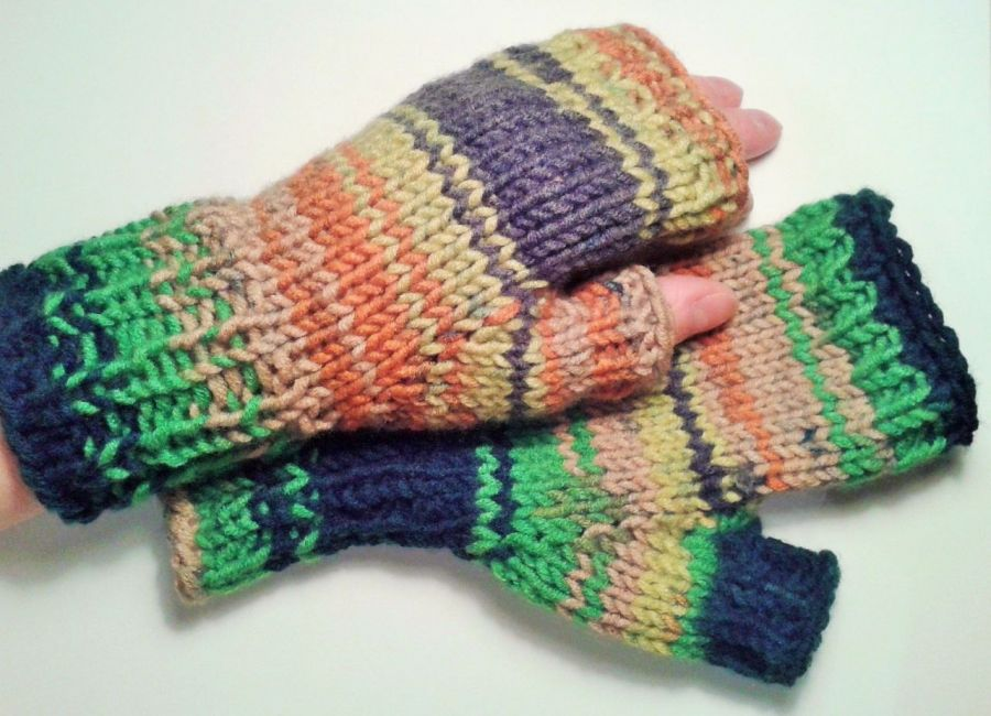 Rękawiczki mitenki kolorowe