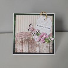 Kartka z okazji Dnia Babci motyl