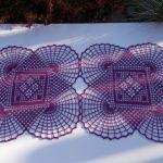 Serwetka Violet 60x31 - Bieżnik koronkowy