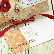 Kartka ślubna- oranżeria