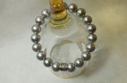 51. Bransoleta z pereł szklanych 10mm