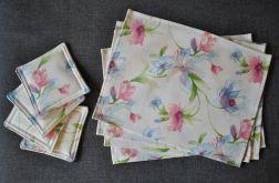 Podkładki pod talerze i kubki - w kwiaty