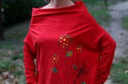 Bluzka oversize CIEPŁO czerwona