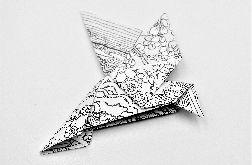 Magnes na lodówkę origami ptaszek pejzaż