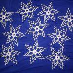 Śnieżynki świąteczne gwiazdeczki