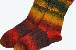 Kolorowe skarpetki -kolory jesieni !