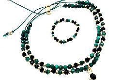 Zestaw biżuterii z malachitu model 1
