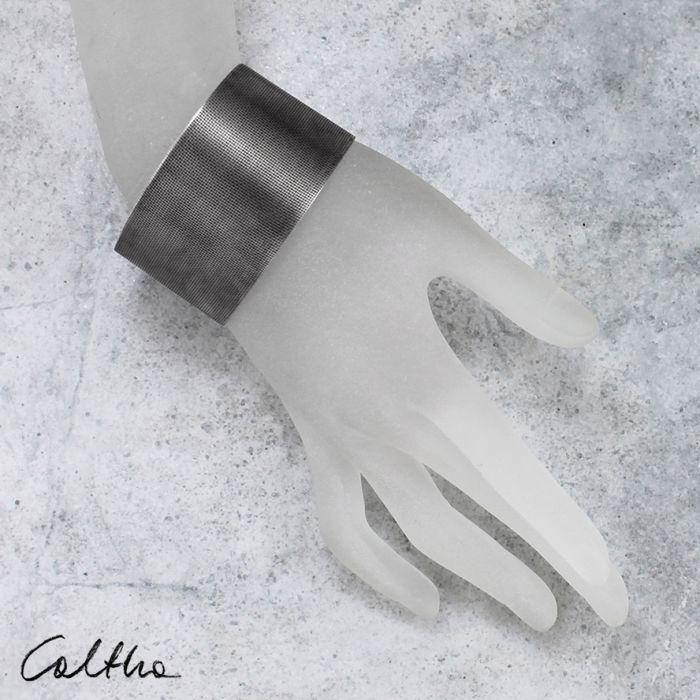 Płótno - metalowa bransoleta 151026-03