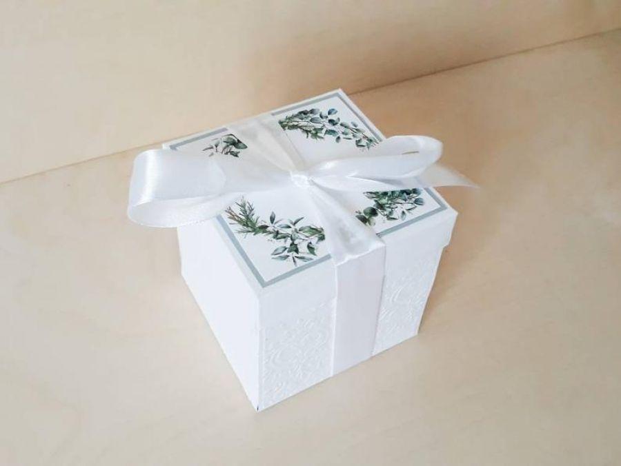 Kartki ślubne Exploding box ślubny #0005a - Pamiątka na ślub od chrzestnej