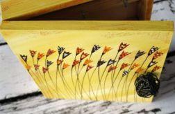żółte pudełko na klucze tulipany