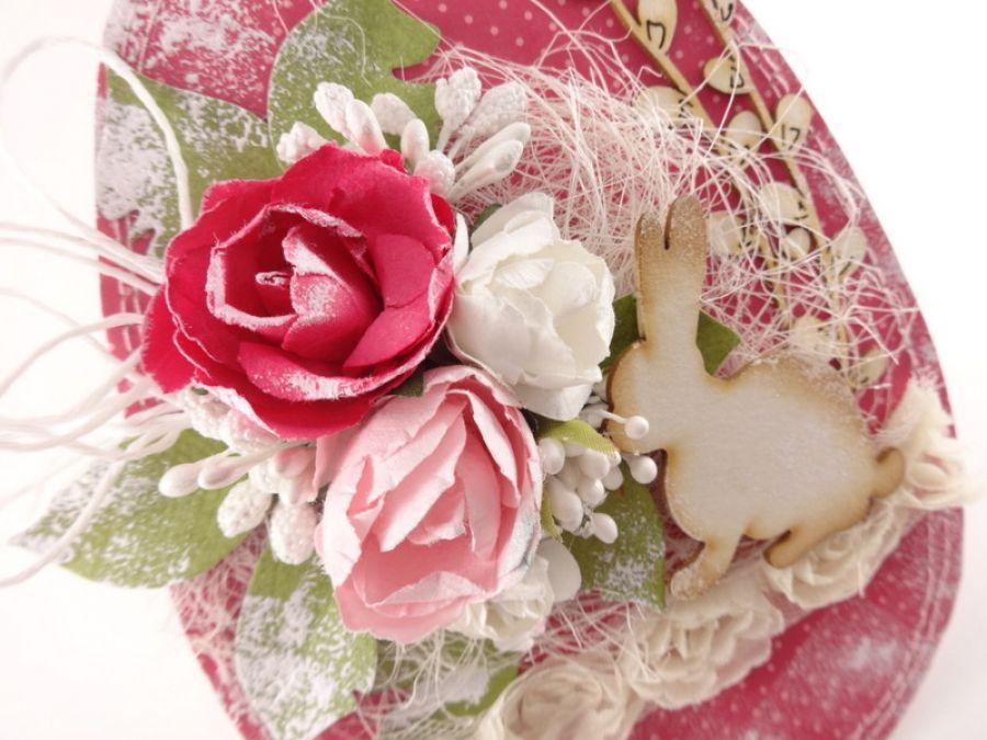 Różowa z zajączkiem