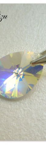 Zawieszka Swarovski Elements Mini Pear Crystal AB